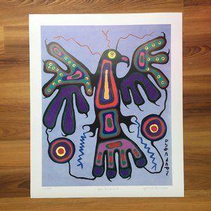 Blue Thunderbird. Norval Morrisseau Art Print.